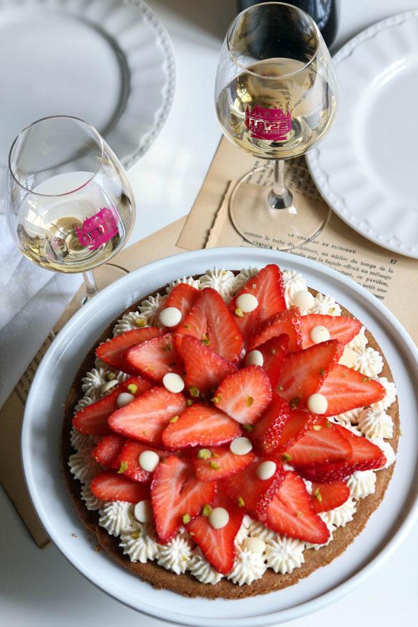 vins blancs touraine azay le rideau tarte fraise