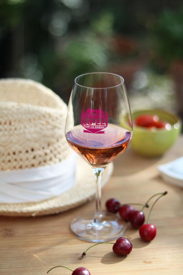 vin rosé grolleau de cinq mars AOC Touraine Azay le Rideau